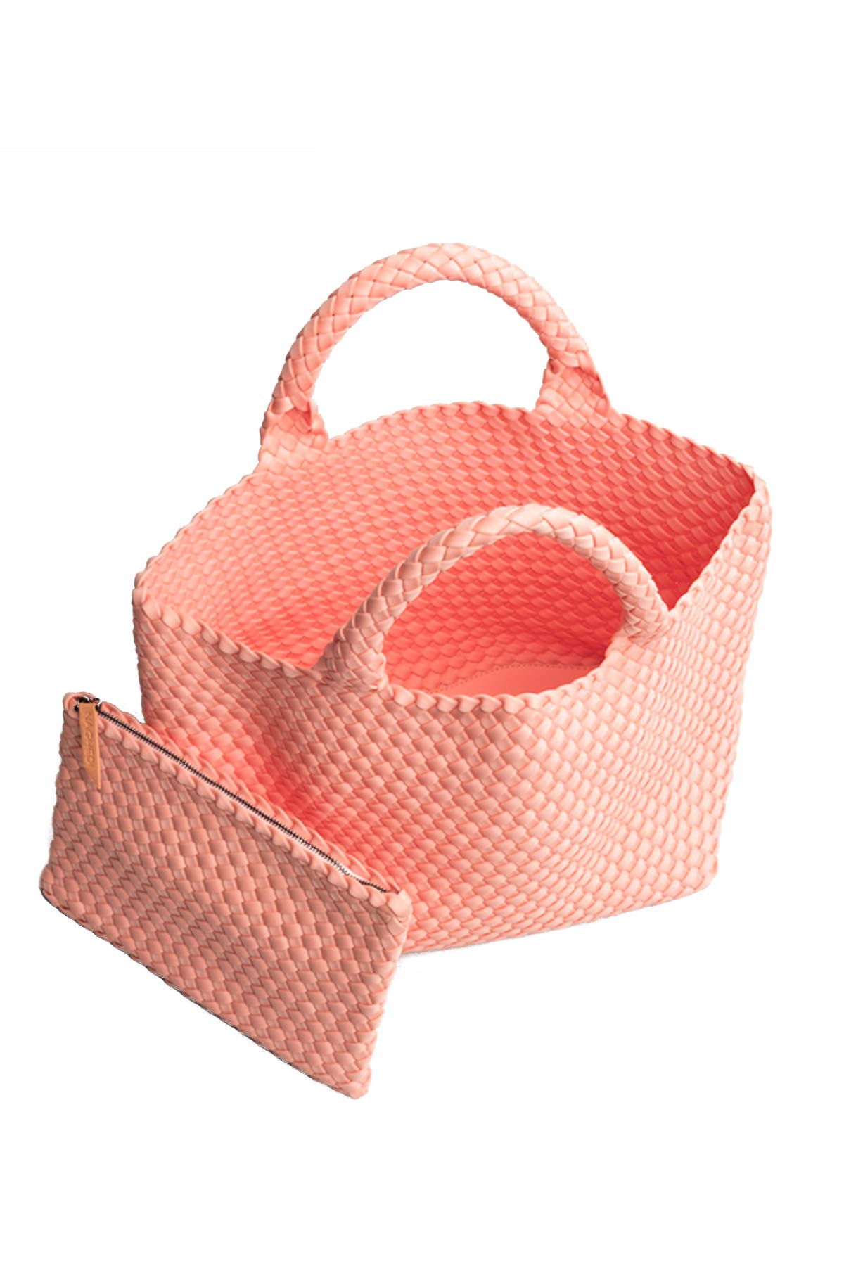 Naghedi Neoprene Basket Weave Small Tote Sorbet One