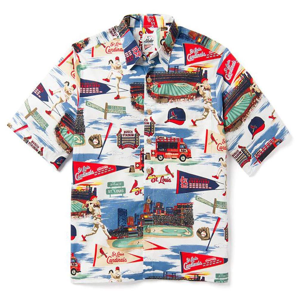 bf9daa2a Reyn Spooner Men's St Louis Cardinals MLB Classic Fit Hawaiian Shirt at  Amazon Men's Clothing store: