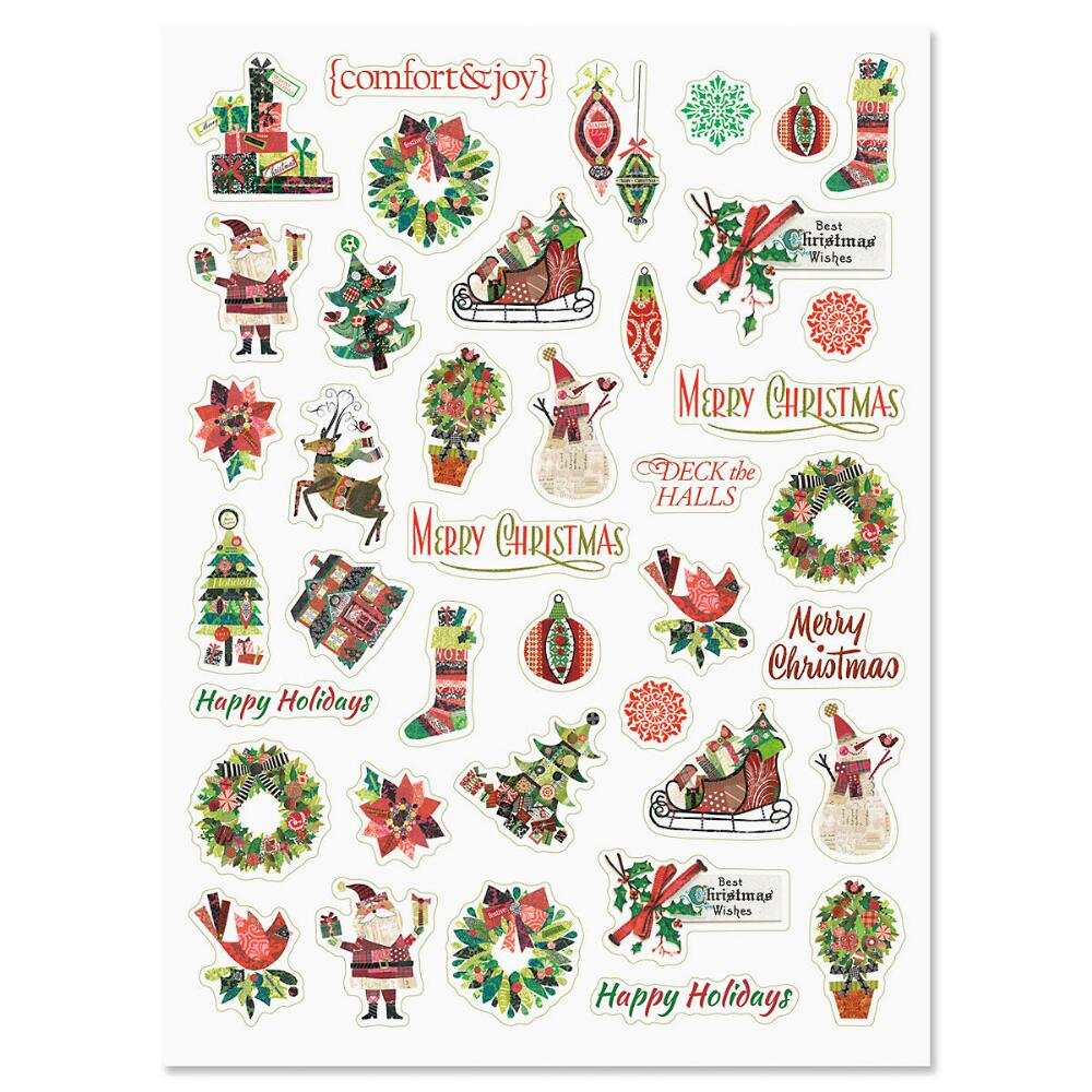 Set of 40 Stickers CURRENT Fancy /& Festive Christmas Holiday Stickers