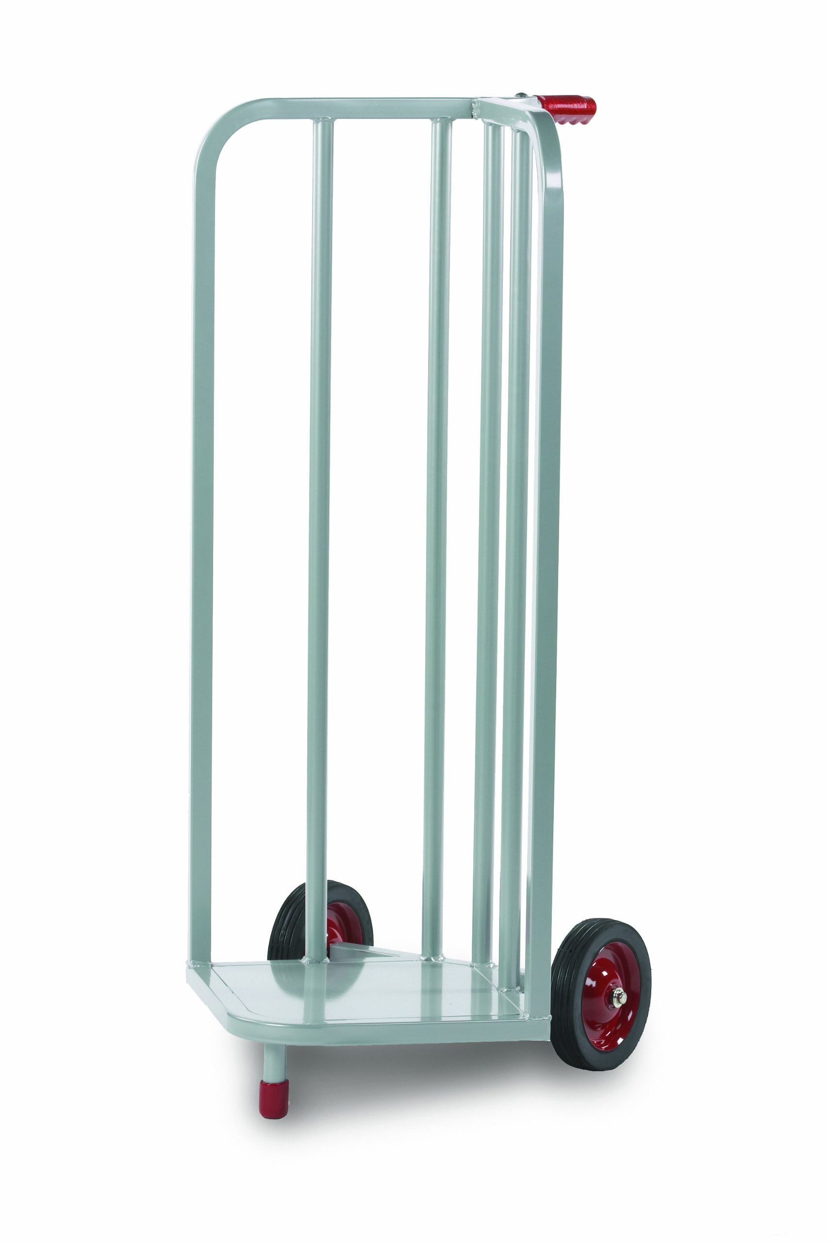 Raymond Steel V-Shaped Book Cart with Skid Resistant Rubber Wheels, 44'' Height, 21-1/4'' Width by Raymond