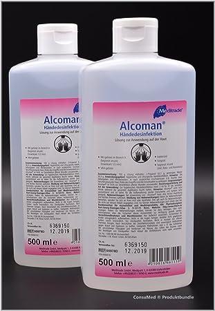 2 X 500 Ml Handedesinfektionsmittel Meditrade Alcoman Amazon De