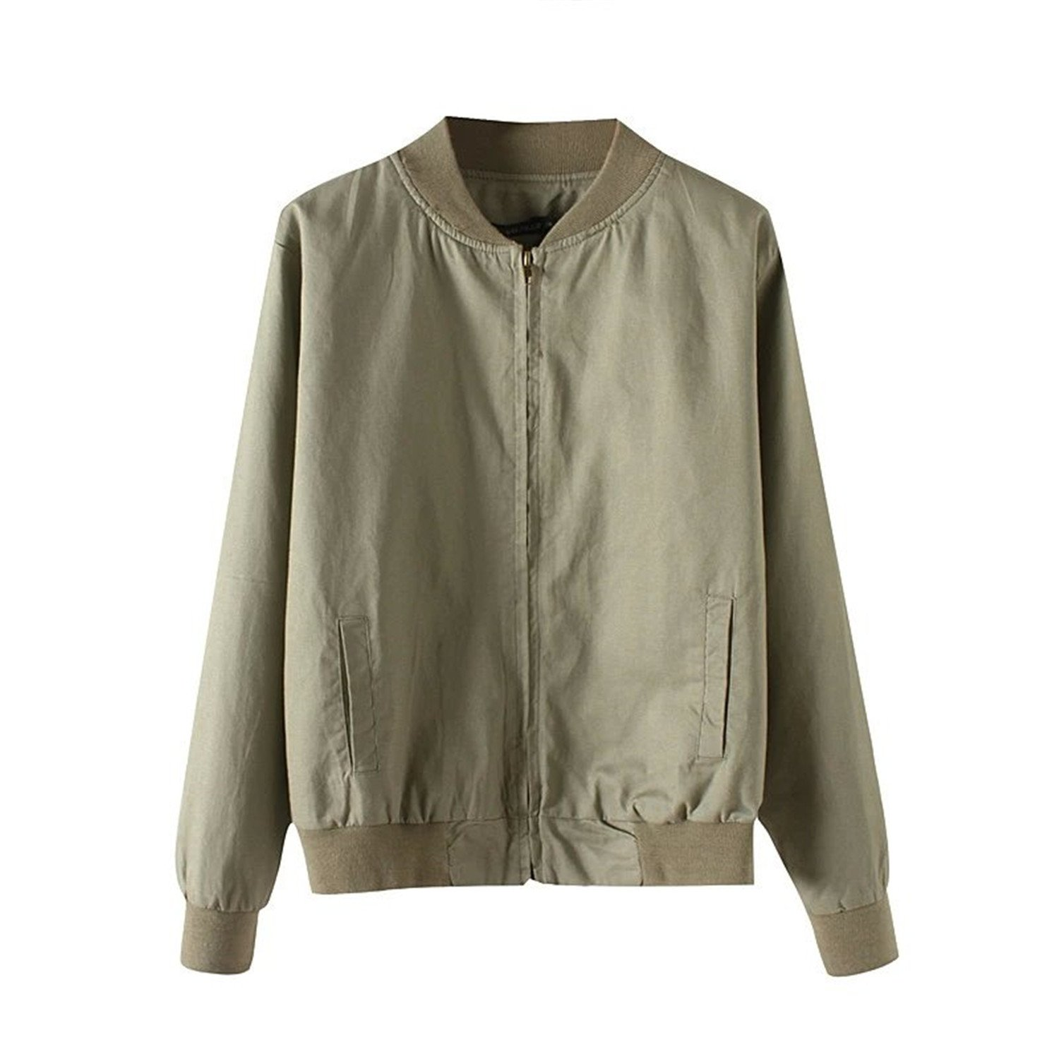 Amazon.com: Dormery Coat Autumn Flight Army Green Women ...