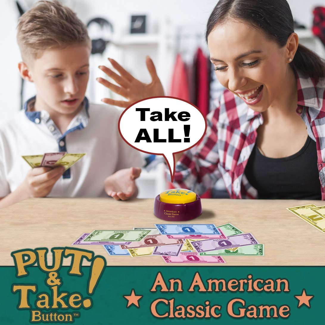 Put and Take Button - A New Generation of Put Take Spinning Tops and Dice. The Classic American Game Now with Audio. Talking Button Game.