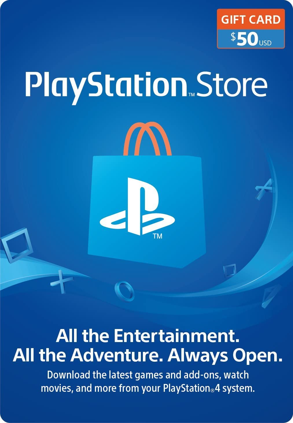 Amazon 50 Playstation Store Gift Card Digital Code Video Games