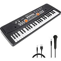 RenFox 49 Key Piano Keyboard Portable Electronic Kids Piano Keyboard Beginner Digital Music Piano Keyboard & Microphone…