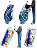 Dust Cover Big Plastic Bags Multi-Purpose Drawstring Bag Set For Keeping Golf's Bag, Picnic Mattress Good for Household Organizing 2 Bags/Set by SPICY SERVED.