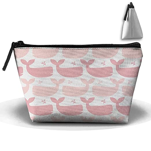 afbd72f5478b Amazon.com: Trapezoidal Cosmetic Bags Makeup Toiletry Pouch Pink ...