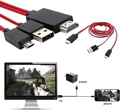 Adaman - Cable adaptador de teléfono a TV de 11 pines a micro USB ...