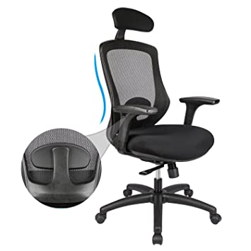 amazon com longem adjustable ergonomic office chair high back