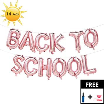 amazon com back to school decorations balloons banner 16 inch