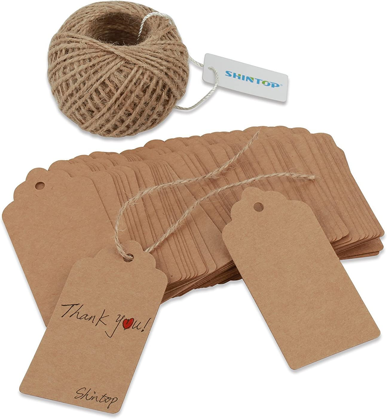 New Kraft Paper Gift Cards Thank You Tags Label for Wedding Decoration LIN