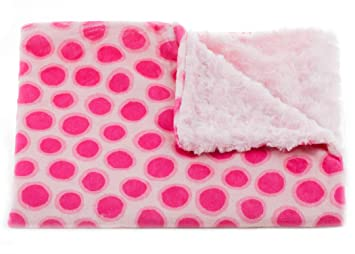 Image Unavailable. Image not available for. Color  Tourance Jelly Dot Baby  Blanket in Pink ... a743ecc19