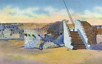 Amazon.com: New Mexico - View of a Pueblo Indian Estufa or ...