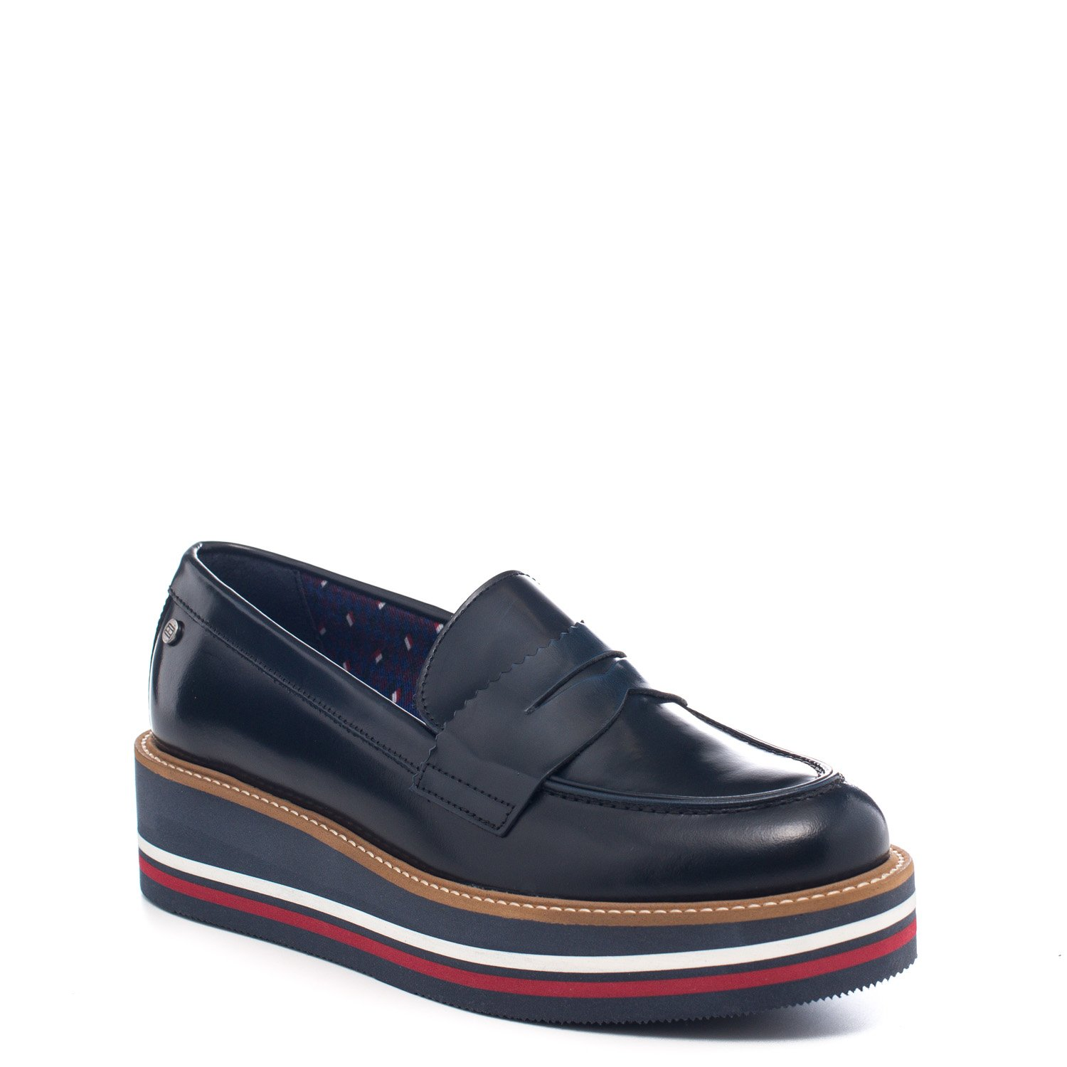c5e69ba4f0992 Tommy Hilfiger Women s Loafer Flats blue Midnight blue Size  4   Amazon.co.uk  Shoes   Bags