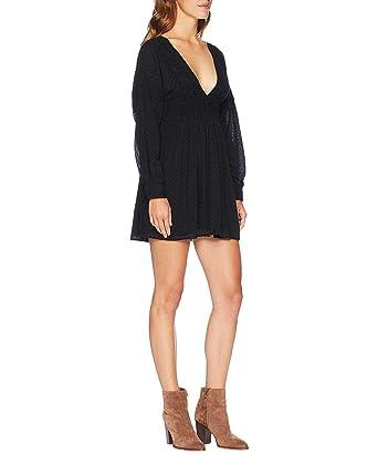 bff835e16d0d Free People Women's Sugarpie Mini Dress Bohemian Tunic, Black (X-Small)