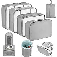Newdora Packing Cubes, 8 teilig Packwürfel, Kleidertaschen für Koffer Kleidung Kosmetik Schuhbeutel Kabel Aufbewahrungstasche, Kofferorganizer Reise Würfel für Urlaub, Flugreisen