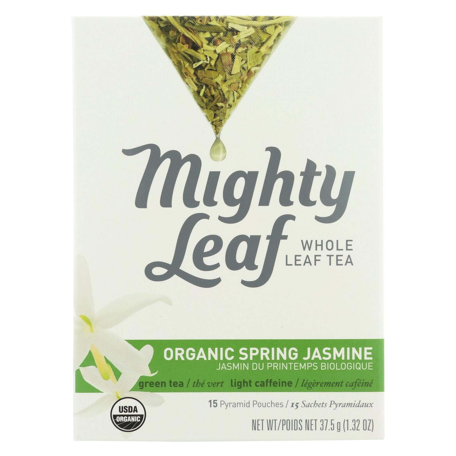 Mighty Leaf Tea Organic Spring Jasmine, 15-Count (Pack of 6)