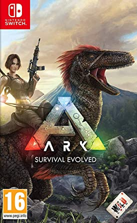 Resultado de imagen de portada ARK Survival Evolved nintendo switch