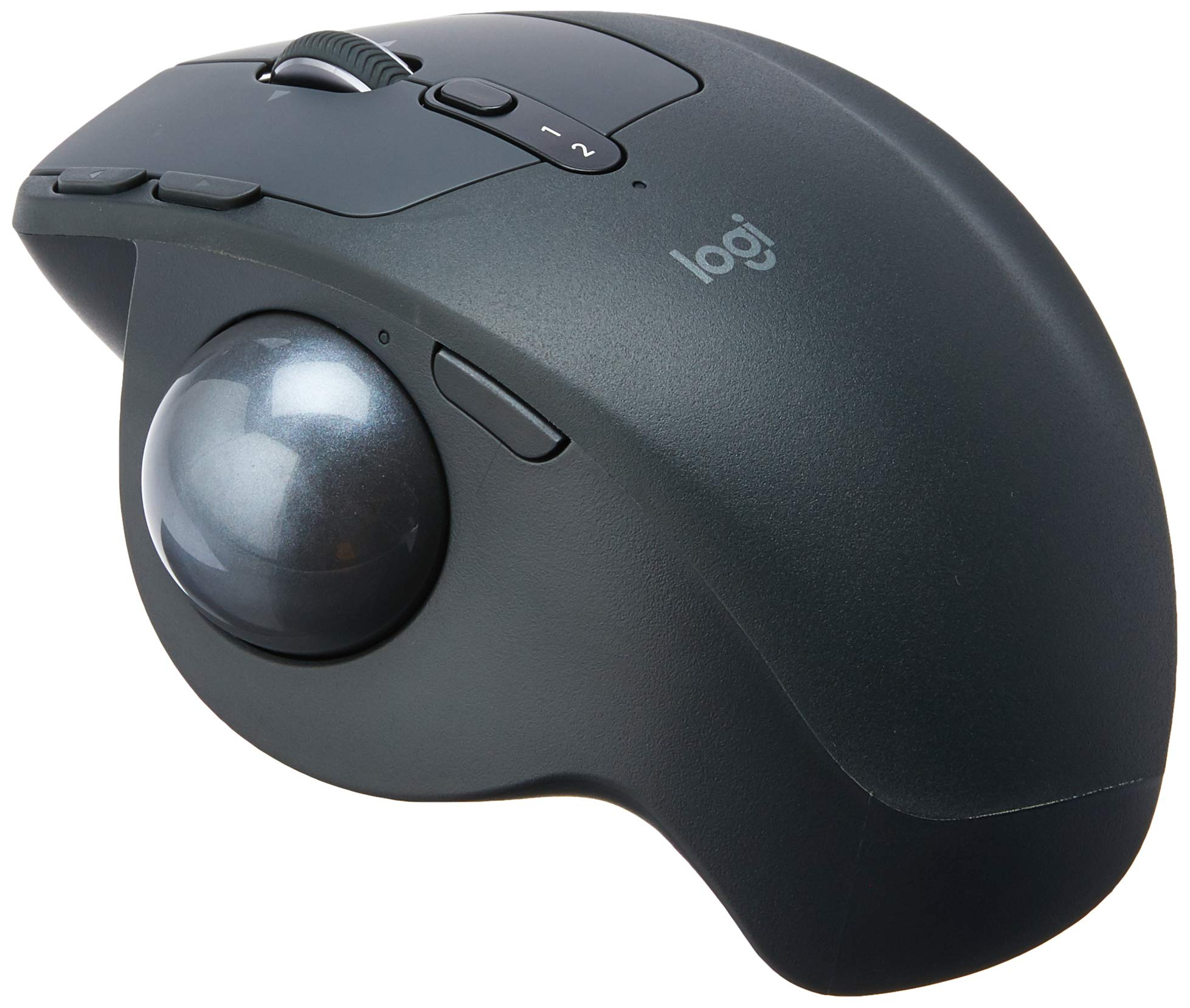 Logitech MX Ergo Wireless Trackball Mouse – Adjustable Ergonomic Design, control and Move Text/Images/Files Between 2 Windows and Apple Mac Computers (Bluetooth or USB), Rechargeable, Graphite
