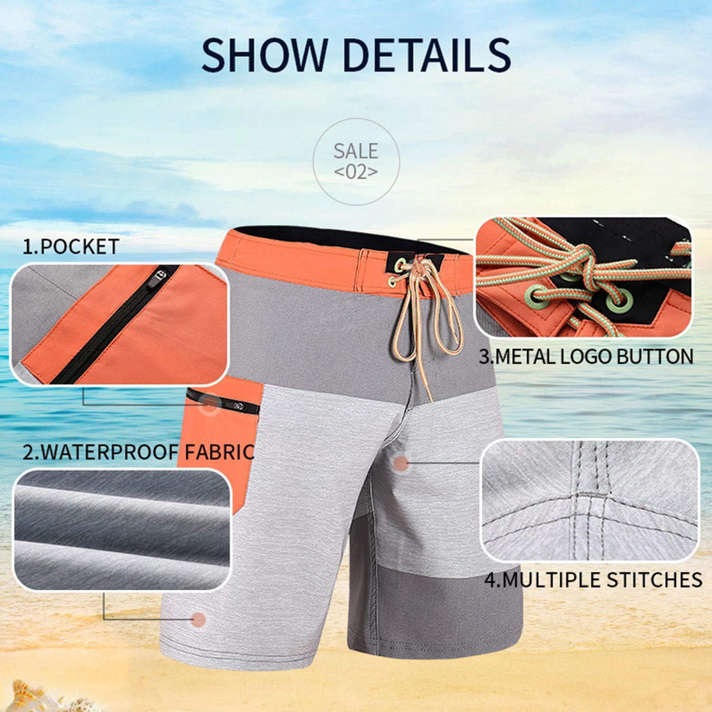 Beach Board Shorts Men Swimwear Swimming Trunks Male Surfing Swim Shorts Breathable Swimsuit