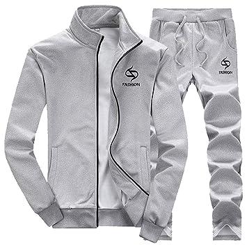 LuckyGirls Conjuntos para Hombre Chaqueta de Manga Larga + Pantalones Abrigo de Deportivas Entallada Chándales: Amazon.es: Deportes y aire libre