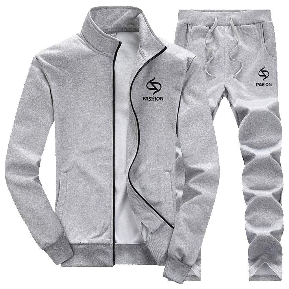 Uomo Inverno Addensare Felpa Top Pantaloni Imposta Gli Sport Completo da Uomo Tuta Sportiva Giacche Uomo 25.96