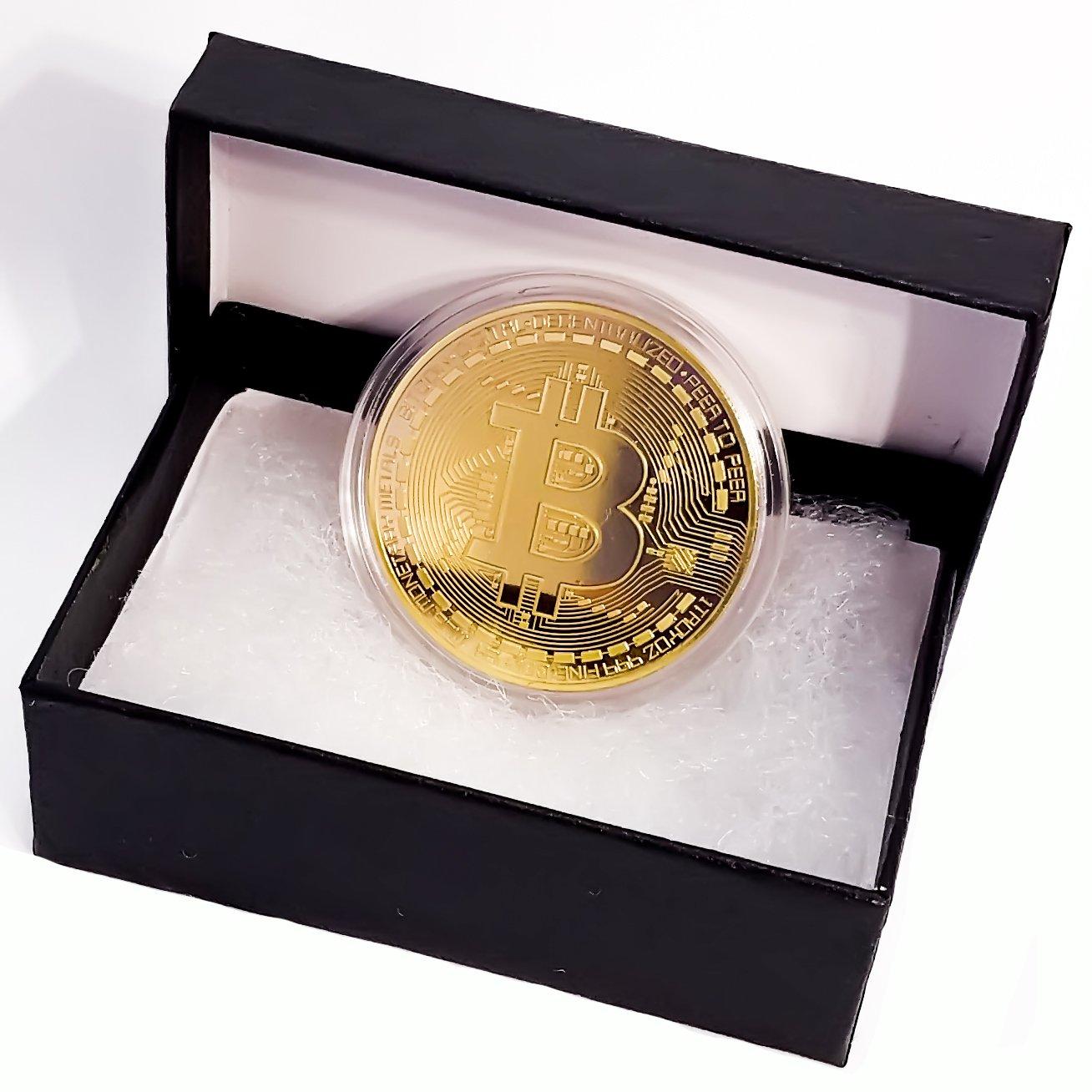 Amazon com: Future BuyZ Gold Plated Bitcoin Coin BTC Token