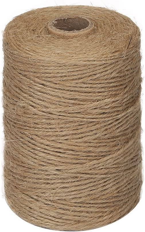 Vivifying 656 Feet 2mm Jute Twine, Natural Thick Brown Twine for Garden, Gifts, Crafts