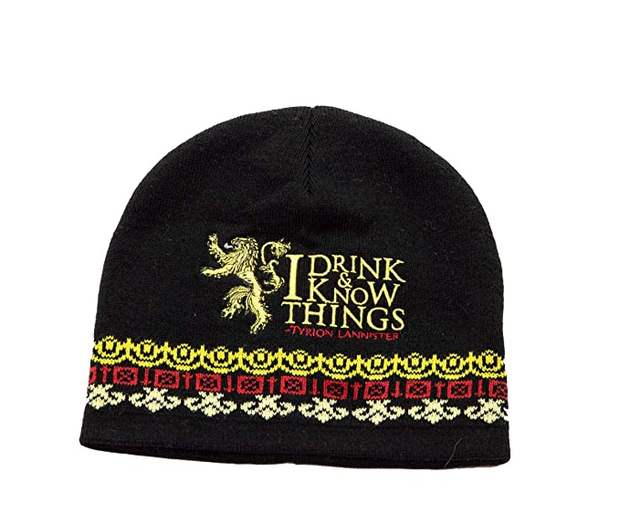 4aa97fcfd3957 Amazon.com  Game of Thrones Unisex Knit Winter Beanie (Drink   Know ...