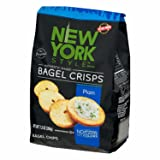 New York Style Bagel Crisps Plain, 7.2 Ounce -(Pack of 3) Best Baked Crisps Will Make Your Day