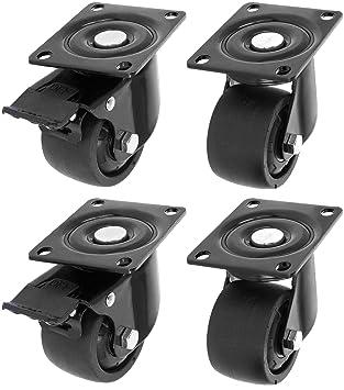com-four/® 4 Lenkrollen zum anschrauben 004 St/ück - 50 mm 400 kg Doppelrolle Schrankrollen f/ür M/öbel Tischrollen M/öbel Lenkrollen mit Schwenklager