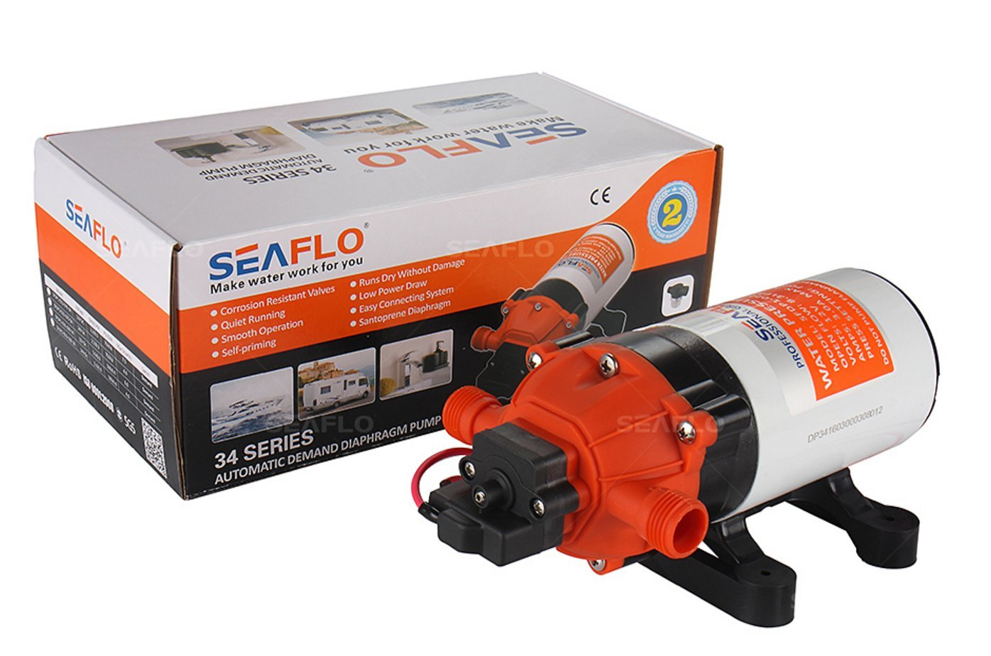 SEAFLO 12V 1.6 GPM 100 PSI 34-Series Water Pressure Diaphragm Pump by Seaflo (Image #4)