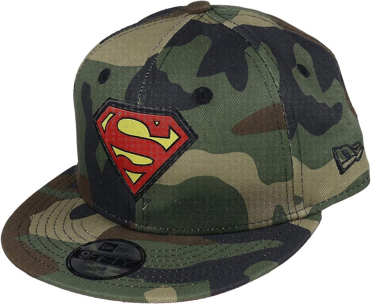 New Era Superman Character Camouflage 9fifty Child Snapback Cap Kids Kinder