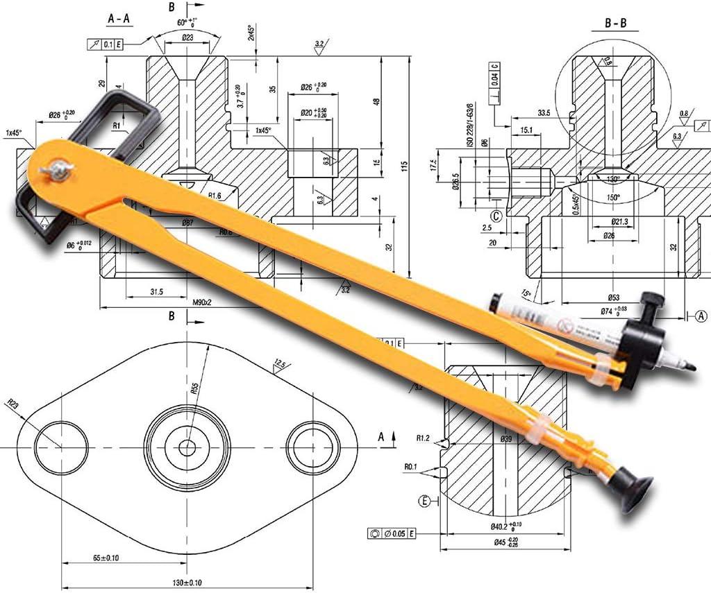 pour Cercles Fournitures Scolaires pour Papeterie /Étudiant RROVE Dessin Compas Multifonction Dessin Compas Math G/éom/étrie Outils