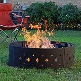 Sunnydaze Diamond Fire Pit Campfire Ring - Large