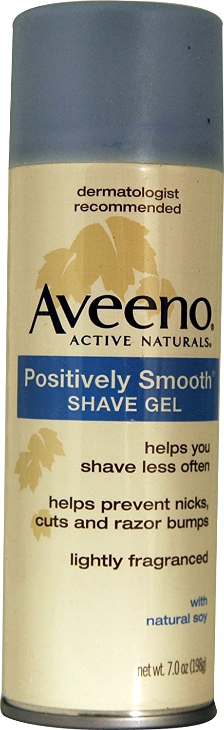 Aveeno Smooth Shave Pos G Size 7.0 O Aveeno Positively Smooth Shave Gel 7.0 Oz