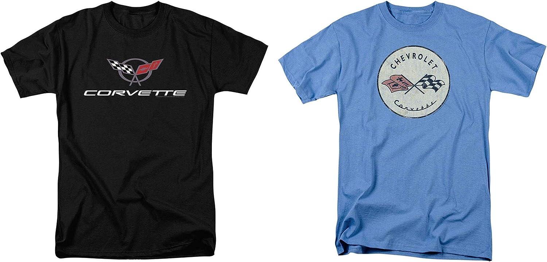 Chevrolet Corvette Distressed Logo Blue T-Shirt S