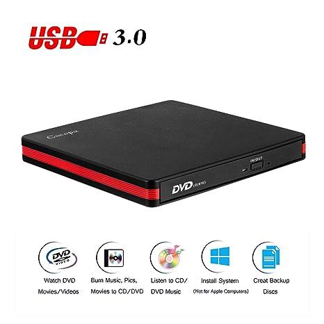 Amazon.com: Cocopa Unidad externa de CD DVD USB 3.0 portátil ...