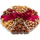 Holiday Nuts Gift Basket - Fresh Sweet & Salty Dry Roasted Gourmet Nuts Gift Basket - Edible Arrangement Food Gift…