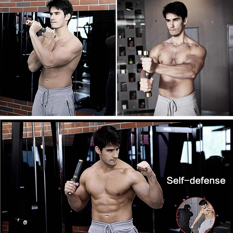 Pellor Forearm Wrist Trainer Arm Hand Grip Strengthener Training Torque Bar Fitness Equipment