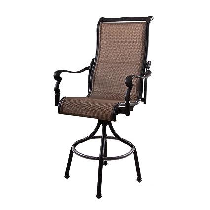 Groovy Amazon Com Darlee Monterey Swivel Patio Bar Stool In Spiritservingveterans Wood Chair Design Ideas Spiritservingveteransorg