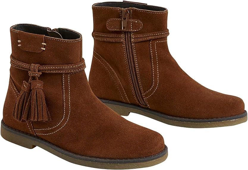 Cyrillus Boots à Pompons Fille 35 Camel: