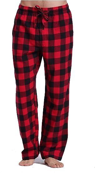 Red//Black Club Room Men/'s Flannel Pajama Shirt M