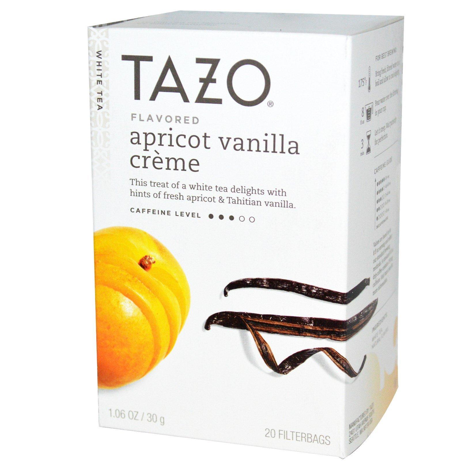 Tazo Teas, Apricot Vanilla Crème Flavored, White Tea, 20 Filterbags, 1.06 oz (30 g) - 3PC