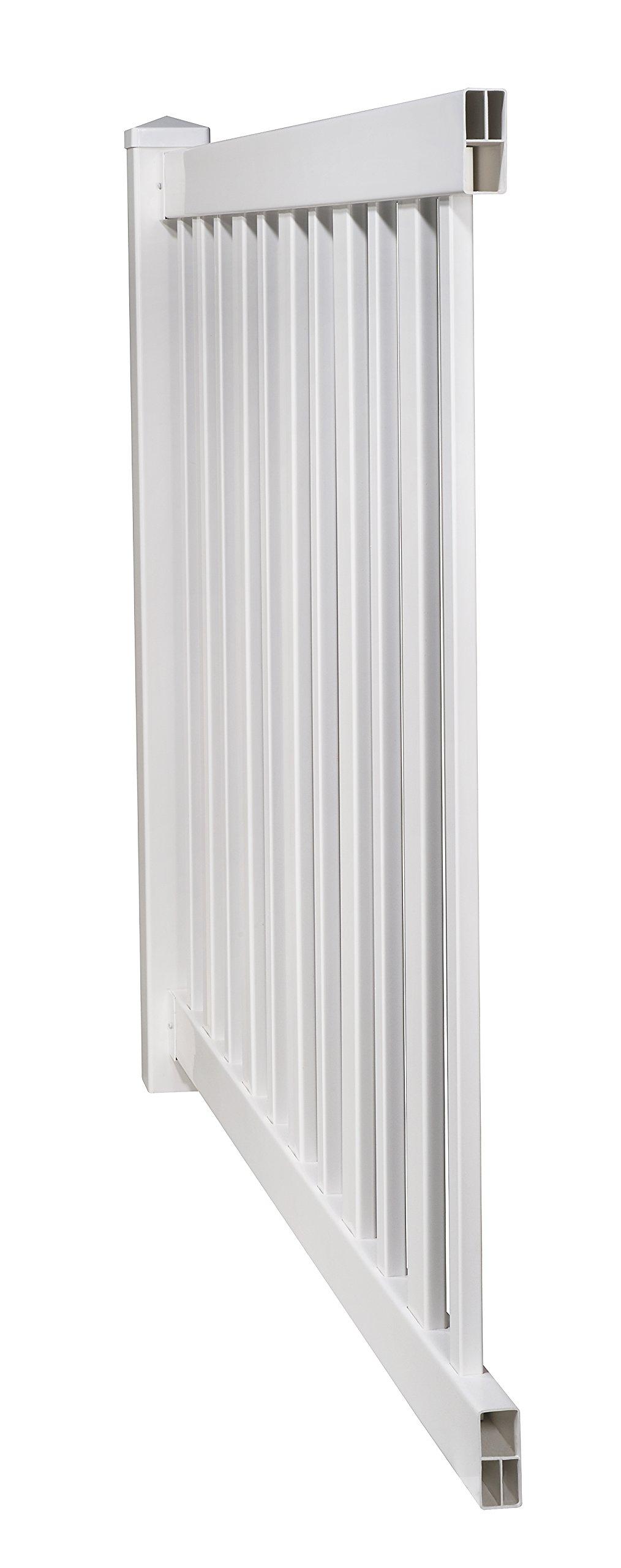 WamBam No-Dig BL19103 Sturbridge Vinyl Fence, 4' Tall by 6' Wide White
