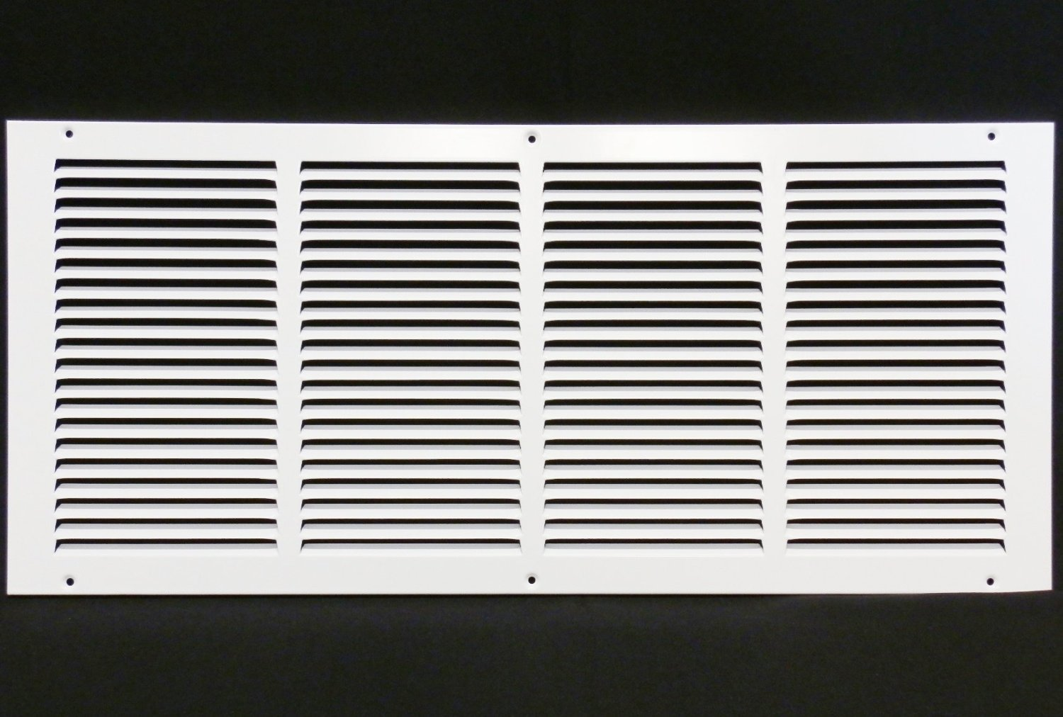 24''w X 10''h Steel Return Air Grilles - Sidewall and Cieling - HVAC DUCT COVER - White [Outer Dimensions: 25.75''w X 11.75''h]