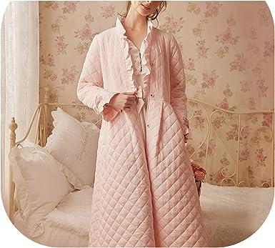 Winter Vintage Robe Sleepwear Cotton Long Robe Women Sleepwear Women Sleep Ware Nightgown Pink M At Amazon Women S Clothing Store