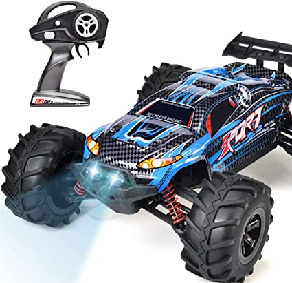 Amazon Com Ingqu Ip68 Waterproof Rc Car High Speed Rc Truck 4x4 Off Road Monster Rtr Hobby Remote Control Car For Kids And Adults Blue Toys Games