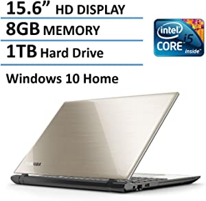 "2016 Toshiba Satellite L55 15.6"" Flagship High Performance Laptop PC, Intel Core i5-5200U Processor, 8GB Memory, 1TB HDD, DVD+/-RW, Windows 10, Satin Gold"
