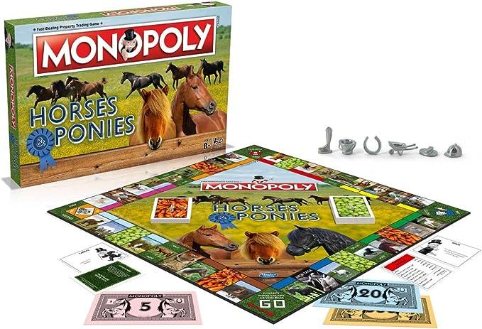 Winning Moves Caballos y Ponis Monopoly Juego de Mesa: Amazon.es: Juguetes y juegos